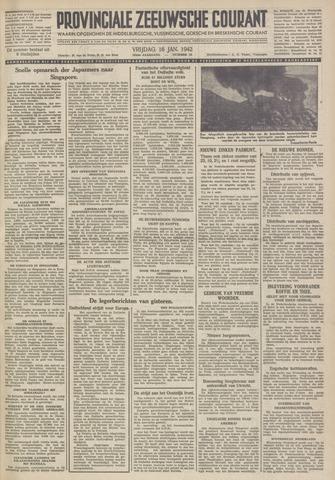 Provinciale Zeeuwse Courant 1942-01-16