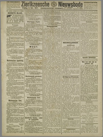 Zierikzeesche Nieuwsbode 1917-10-05