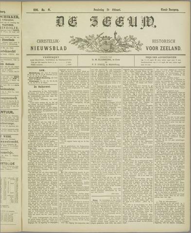 De Zeeuw. Christelijk-historisch nieuwsblad voor Zeeland 1896-02-20