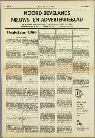 Noord-Bevelands Nieuws- en advertentieblad 1957