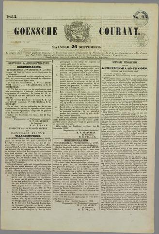 Goessche Courant 1853-09-26