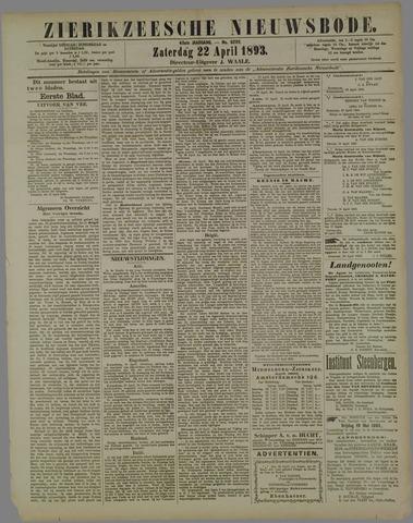 Zierikzeesche Nieuwsbode 1893-04-22