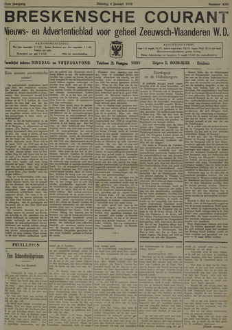 Breskensche Courant 1938
