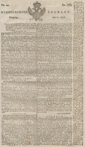 Middelburgsche Courant 1763-04-12