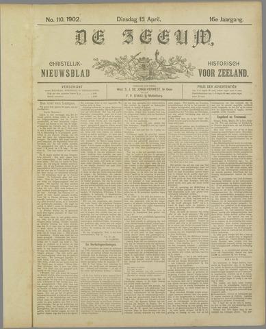 De Zeeuw. Christelijk-historisch nieuwsblad voor Zeeland 1902-04-15