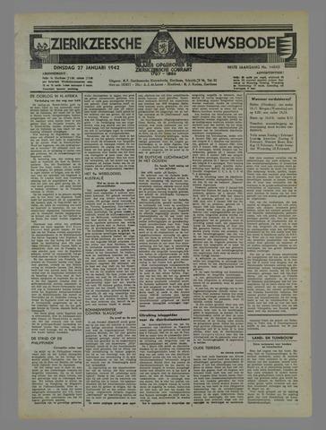 Zierikzeesche Nieuwsbode 1942-01-27