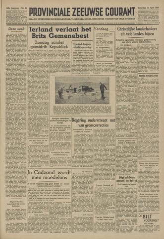 Provinciale Zeeuwse Courant 1949-04-16