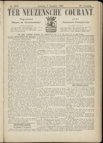 Ter Neuzensche Courant. Algemeen Nieuws- en Advertentieblad voor Zeeuwsch-Vlaanderen / Neuzensche Courant ... (idem) / (Algemeen) nieuws en advertentieblad voor Zeeuwsch-Vlaanderen 1880-08-07