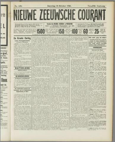 Nieuwe Zeeuwsche Courant 1916-10-28