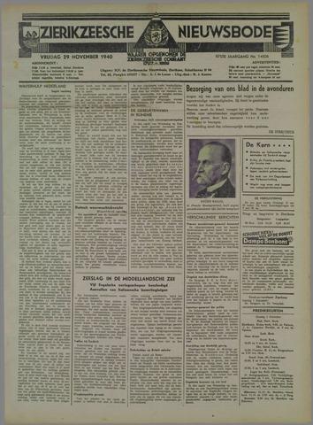 Zierikzeesche Nieuwsbode 1940-11-29