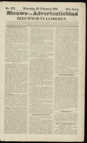Ter Neuzensche Courant. Algemeen Nieuws- en Advertentieblad voor Zeeuwsch-Vlaanderen / Neuzensche Courant ... (idem) / (Algemeen) nieuws en advertentieblad voor Zeeuwsch-Vlaanderen 1861-02-20