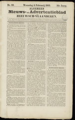 Ter Neuzensche Courant. Algemeen Nieuws- en Advertentieblad voor Zeeuwsch-Vlaanderen / Neuzensche Courant ... (idem) / (Algemeen) nieuws en advertentieblad voor Zeeuwsch-Vlaanderen 1863-02-04