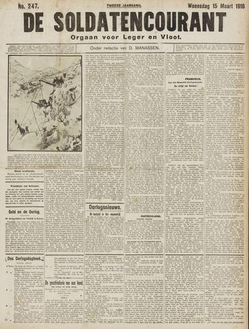 De Soldatencourant. Orgaan voor Leger en Vloot 1916-03-15