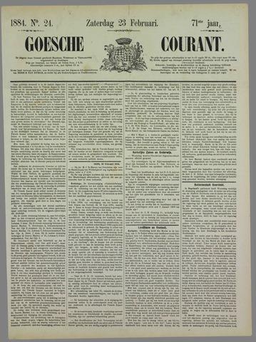 Goessche Courant 1884-02-23