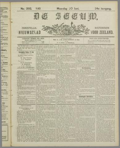 De Zeeuw. Christelijk-historisch nieuwsblad voor Zeeland 1910-06-20