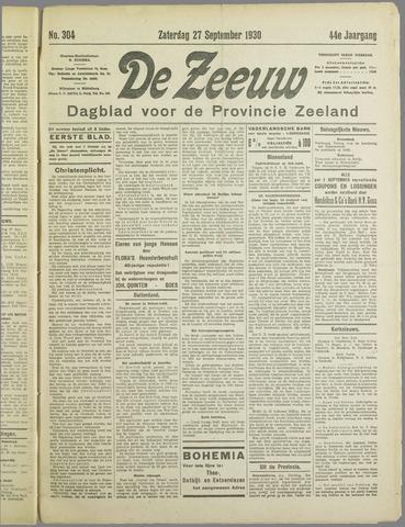 De Zeeuw. Christelijk-historisch nieuwsblad voor Zeeland 1930-09-27