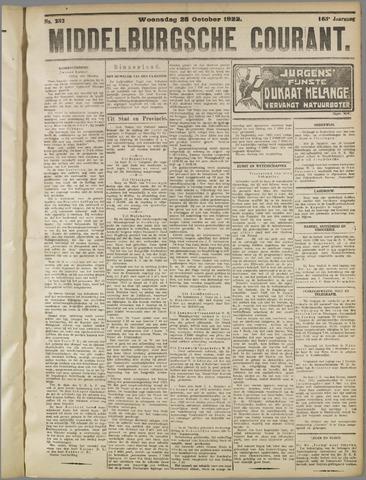 Middelburgsche Courant 1922-10-25
