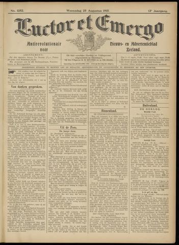 Luctor et Emergo. Antirevolutionair nieuws- en advertentieblad voor Zeeland / Zeeuwsch-Vlaanderen. Orgaan ter verspreiding van de christelijke beginselen in Zeeuwsch-Vlaanderen 1915-08-25
