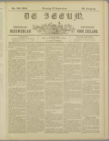 De Zeeuw. Christelijk-historisch nieuwsblad voor Zeeland 1904-09-13