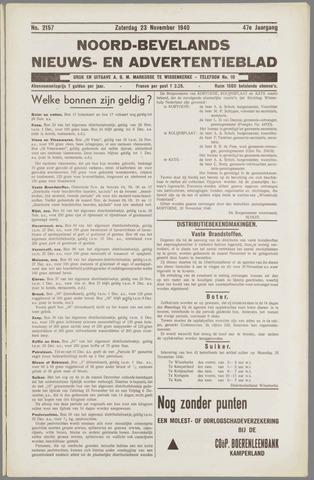 Noord-Bevelands Nieuws- en advertentieblad 1940-11-23