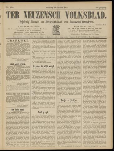 Ter Neuzensch Volksblad. Vrijzinnig nieuws- en advertentieblad voor Zeeuwsch- Vlaanderen / Zeeuwsch Nieuwsblad. Nieuws- en advertentieblad voor Zeeland 1912-10-12