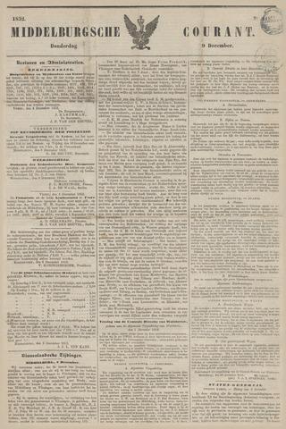 Middelburgsche Courant 1852-12-09