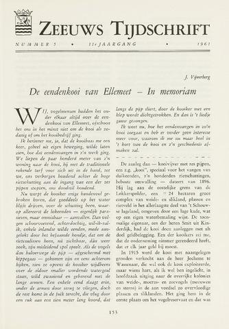 Zeeuws Tijdschrift 1961-09-01