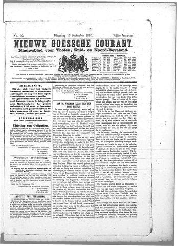 Nieuwe Goessche Courant 1870-09-13