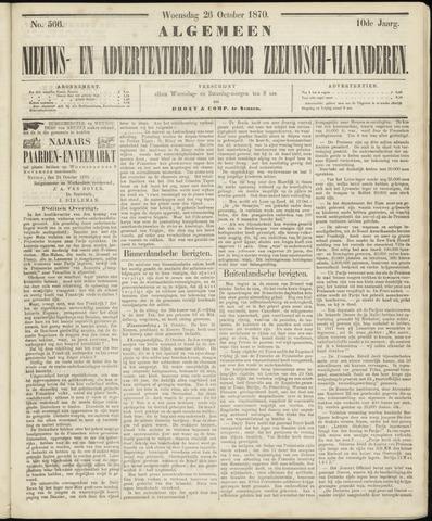 Ter Neuzensche Courant. Algemeen Nieuws- en Advertentieblad voor Zeeuwsch-Vlaanderen / Neuzensche Courant ... (idem) / (Algemeen) nieuws en advertentieblad voor Zeeuwsch-Vlaanderen 1870-10-26