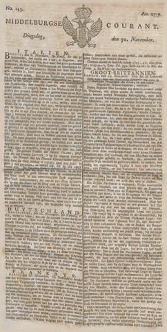 Middelburgsche Courant 1779-11-30