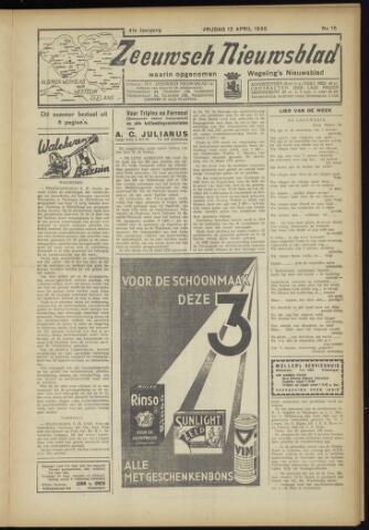 Zeeuwsch Nieuwsblad/Wegeling's Nieuwsblad 1935-04-12