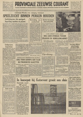 Provinciale Zeeuwse Courant 1959-01-15