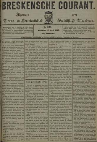 Breskensche Courant 1913-07-19