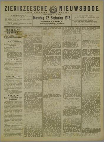 Zierikzeesche Nieuwsbode 1913-09-22
