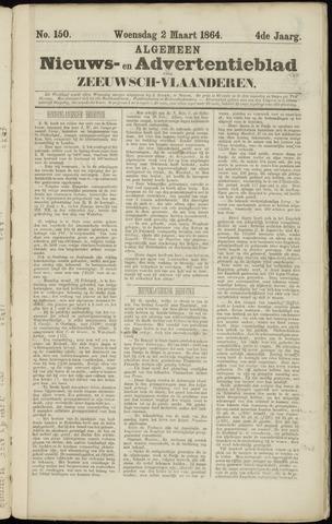Ter Neuzensche Courant. Algemeen Nieuws- en Advertentieblad voor Zeeuwsch-Vlaanderen / Neuzensche Courant ... (idem) / (Algemeen) nieuws en advertentieblad voor Zeeuwsch-Vlaanderen 1864-03-02