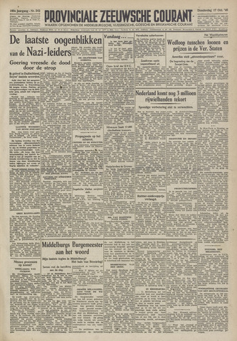 Provinciale Zeeuwse Courant 1946-10-17