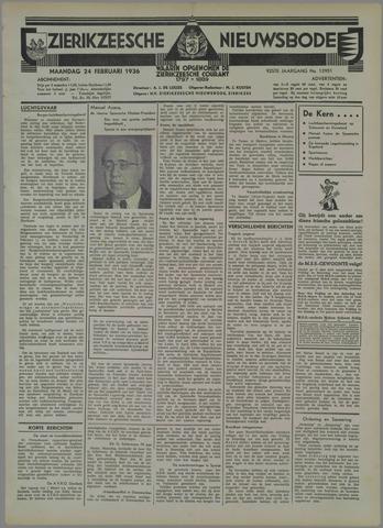 Zierikzeesche Nieuwsbode 1936-02-24
