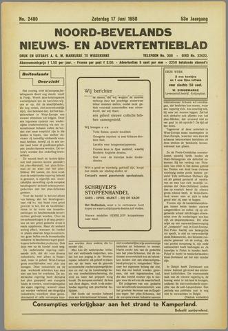 Noord-Bevelands Nieuws- en advertentieblad 1950-06-17