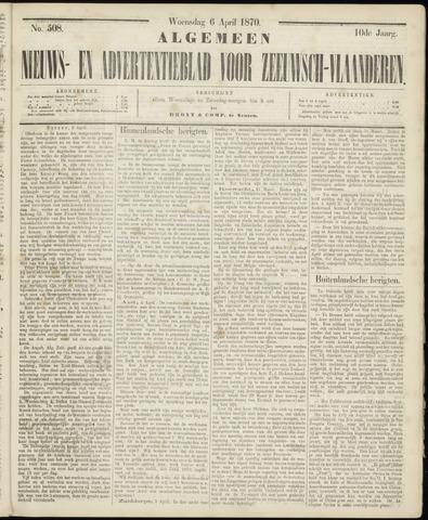 Ter Neuzensche Courant. Algemeen Nieuws- en Advertentieblad voor Zeeuwsch-Vlaanderen / Neuzensche Courant ... (idem) / (Algemeen) nieuws en advertentieblad voor Zeeuwsch-Vlaanderen 1870-04-06