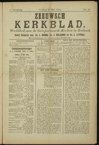 Zeeuwsche kerkbode, weekblad gewijd aan de belangen der gereformeerde kerken/ Zeeuwsch kerkblad 1904-05-27
