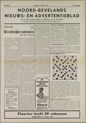 Noord-Bevelands Nieuws- en advertentieblad 1974-10-03