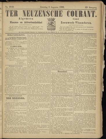 Ter Neuzensche Courant. Algemeen Nieuws- en Advertentieblad voor Zeeuwsch-Vlaanderen / Neuzensche Courant ... (idem) / (Algemeen) nieuws en advertentieblad voor Zeeuwsch-Vlaanderen 1892-08-06