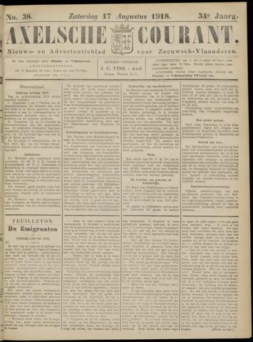 Axelsche Courant 1918-08-17
