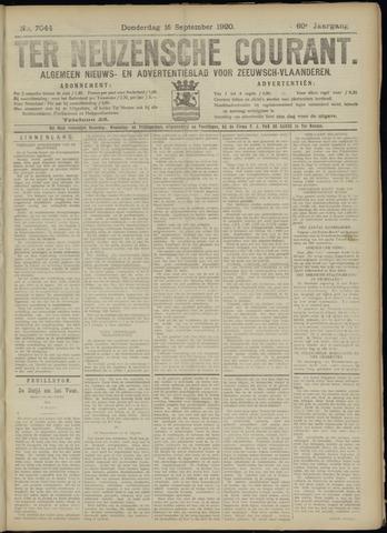 Ter Neuzensche Courant. Algemeen Nieuws- en Advertentieblad voor Zeeuwsch-Vlaanderen / Neuzensche Courant ... (idem) / (Algemeen) nieuws en advertentieblad voor Zeeuwsch-Vlaanderen 1920-09-16