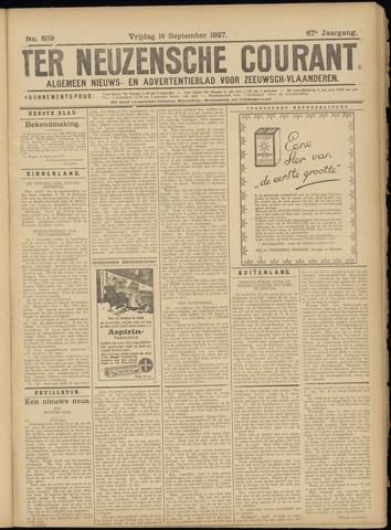 Ter Neuzensche Courant. Algemeen Nieuws- en Advertentieblad voor Zeeuwsch-Vlaanderen / Neuzensche Courant ... (idem) / (Algemeen) nieuws en advertentieblad voor Zeeuwsch-Vlaanderen 1927-09-16