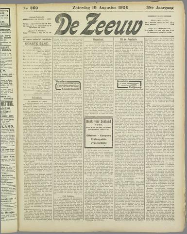 De Zeeuw. Christelijk-historisch nieuwsblad voor Zeeland 1924-08-16