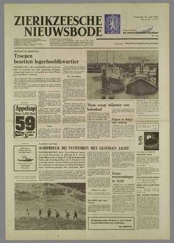 Zierikzeesche Nieuwsbode 1974-04-25