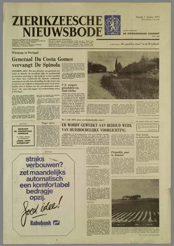 Zierikzeesche Nieuwsbode 1974-10-01