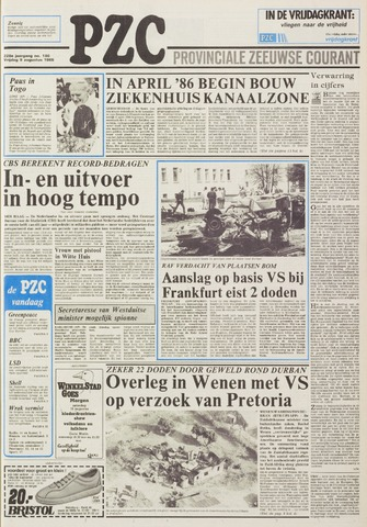 Provinciale Zeeuwse Courant 1985-08-09