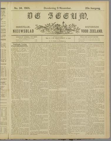 De Zeeuw. Christelijk-historisch nieuwsblad voor Zeeland 1905-11-09